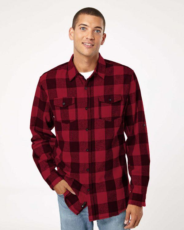 Burnside - Yarn-Dyed Long Sleeve Flannel Shirt - 8210