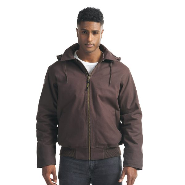 Big Red – Bomber Jacket with Sherpa Lining - L00910